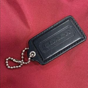 Coach leather key chain tags